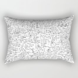 Physics Equations on Whiteboard Rectangular Pillow
