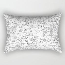 Physics Equations on Whiteboard Rectangular Pillow