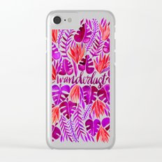 Tropical Wanderlust – Magenta Palette Clear iPhone Case