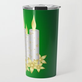 Shiny candles and flowers Travel Mug