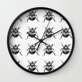 full of dung beetles Wall Clock