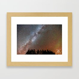 Milky Way over the Michigan UP Framed Art Print