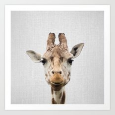 Giraffe - Colorful Art Print