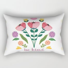 Be Kind Folk Art Bouquet Rectangular Pillow