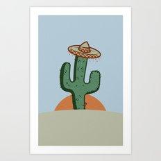 Señor Cactus Art Print