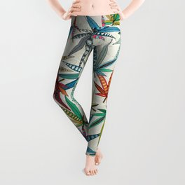 boho weed light Leggings