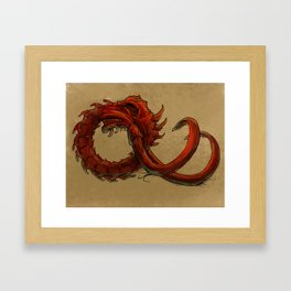 Bio-Elephant Skull Framed Art Print