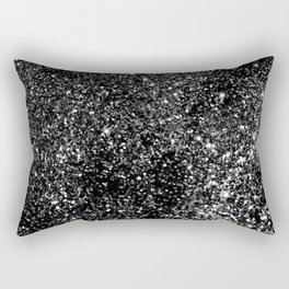 Black Night Glitter #1 #shiny #decor #art #society6 Rectangular Pillow