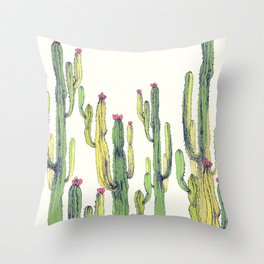 vertical cactus Throw Pillow