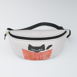 Cat reading book Fanny Pack