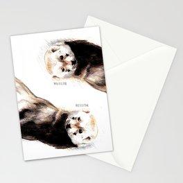 Steppen ferret (Mustela eversmanii) Stationery Cards
