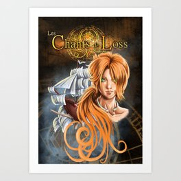 Poster of Les Chants de Loss, the roleplaying game Art Print