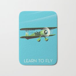 Learn To Fly Bath Mat