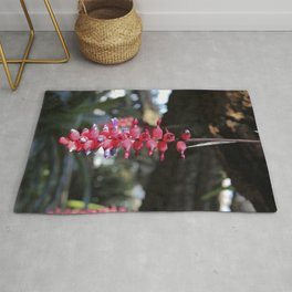 red exotic flower Rug