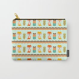 Foxes, grains and leaves Carry-All Pouch