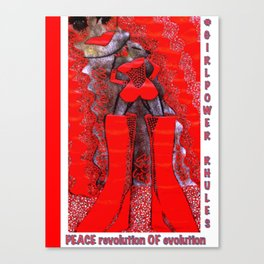 pOOs revolution of Evolution: original tetkaART Canvas Print