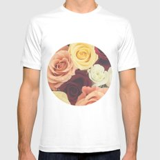Vintage Roses II Mens Fitted Tee White MEDIUM