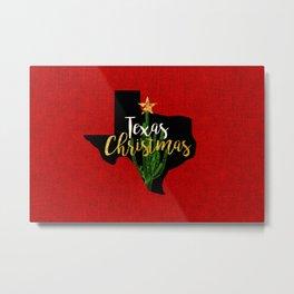 Texas Christmas Cactus Metal Print