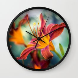 Tiger Lily Wall Clock