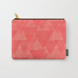 Gentle light red triangles in the intersection and overlay. Carry-All Pouch