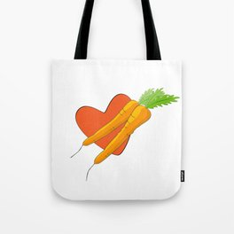 Carrot Heart Tote Bag