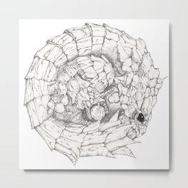 Scaley Knight Metal Print
