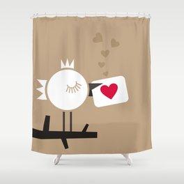 Enamoured bird Shower Curtain