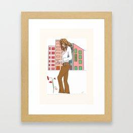 Peace & Love Framed Art Print