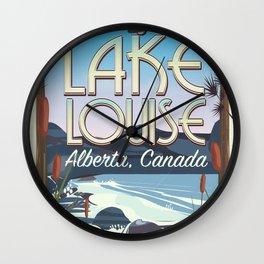 Lake Louise Alberta Canada Wall Clock