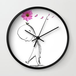windy petals Wall Clock
