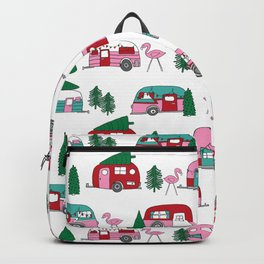Camper vacation christmas road trip tropical home away from home pattern Backpack