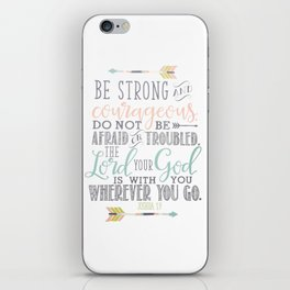 Joshua 1:9 Christian Bible Verse Typography Design iPhone Skin