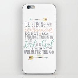 Joshua 1:9 Christian Bible Verse Typography Design iPhone Skin