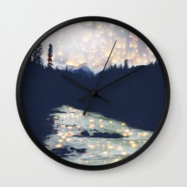 Make a wish -Yoho National park Wall Clock