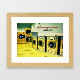 wash away your sorrow... Framed Art Print