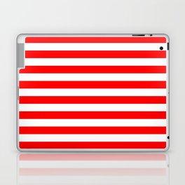Horizontal Stripes (Red/White) Laptop & iPad Skin