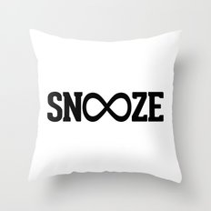 Snooze Forever Pillow Throw Pillow