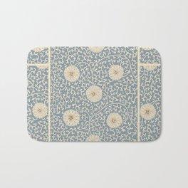 70's Turquoise Floral Bath Mat