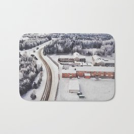 Winter view from the sky Bath Mat
