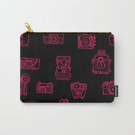 Camera: Pink - pop art illustration Carry-All Pouch