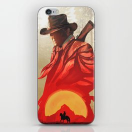 Red Sun Set /Red Dead - Poster iPhone Skin
