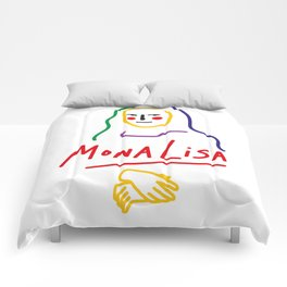 Contemporary Mona Lisa Comforters