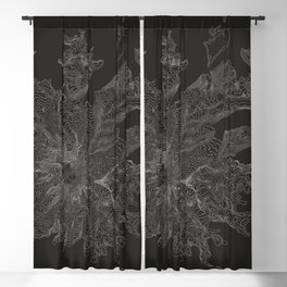 Mount Rainier, WA Contour Map Blackout Curtain