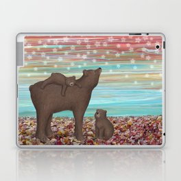 brown bears and stars Laptop & iPad Skin