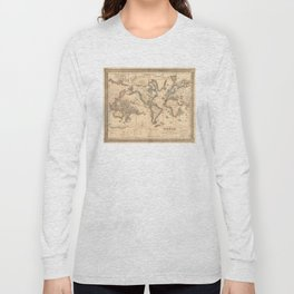 Vintage Map of the World (1850) Long Sleeve T-shirt