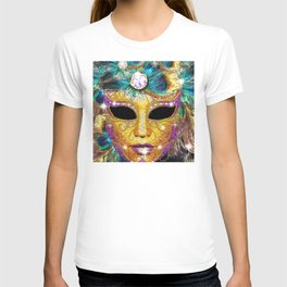 Golden Carnival Mask T-shirt