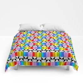 Tribute to mondrian 4- piet,geomtric,geomtrical,abstraction,de  stijl,composition. Comforters