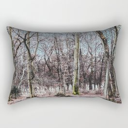 Red leaves and freckles. Can I call you redheads, dear trees? Rectangular Pillow