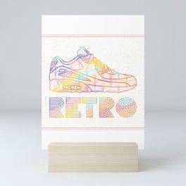 Retro Shoes Mini Art Print