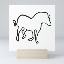 Walking horse Mini Art Print